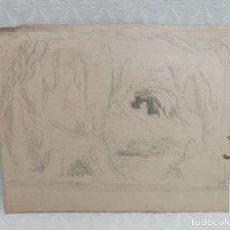 Arte: ANONIMO. DIBUJO A CARBÓN. PAISAJE. Lote 218781181