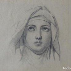 Arte: BONITO DIBUJO A LÁPIZ. RETRATO DE DAMA, POSIBLEMENTE JUANA DE ARCO. SIGLO XIX. ENMARCADO CON CRISTAL. Lote 218815553