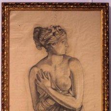 Arte: JORGE GUILLEMOT. GRUPO PONT DE FUSTA (ESCUELA VALENCIANA) ENMARCADO 58X96CM DESNUDO ACADÉMICO. Lote 218818970
