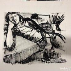 Arte: DIBUJO CARBÓN. JOAN GRANADOS LLIMONA. 1976. Lote 218834572