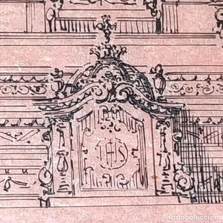 Arte: PROYECTO PARA SAGRARIO MONUMENTAL. DIBUJO A TINTA. ESTUDIO RIUS Y MASSAGUÉ. ESPAÑA. CIRCA 1910 - Foto 3 - 219276718