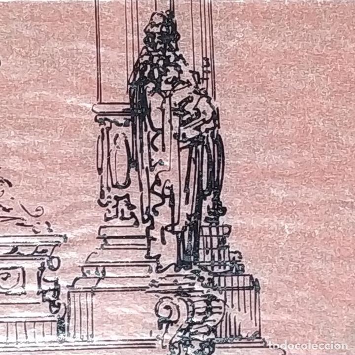 Arte: PROYECTO PARA SAGRARIO MONUMENTAL. DIBUJO A TINTA. ESTUDIO RIUS Y MASSAGUÉ. ESPAÑA. CIRCA 1910 - Foto 6 - 219276718