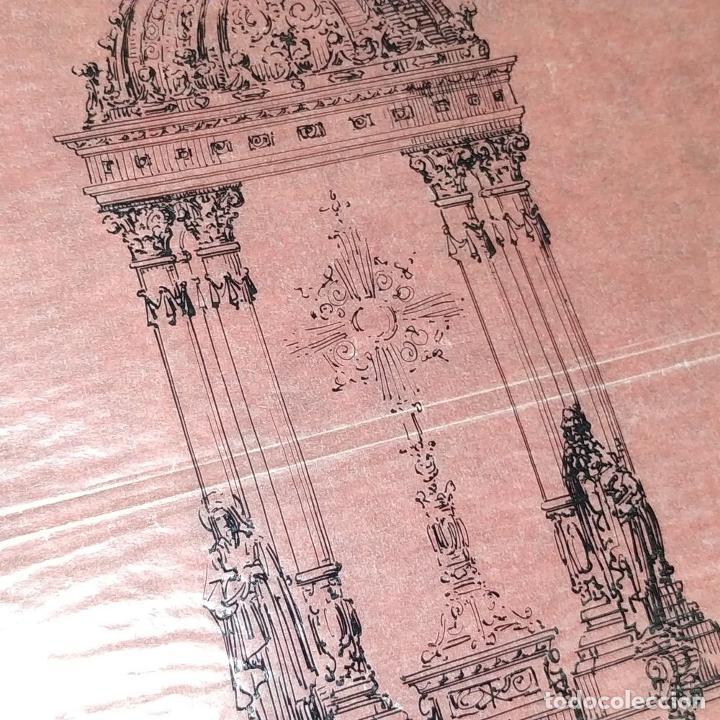 Arte: PROYECTO PARA SAGRARIO MONUMENTAL. DIBUJO A TINTA. ESTUDIO RIUS Y MASSAGUÉ. ESPAÑA. CIRCA 1910 - Foto 7 - 219276718