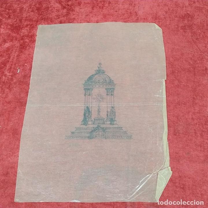 Arte: PROYECTO PARA SAGRARIO MONUMENTAL. DIBUJO A TINTA. ESTUDIO RIUS Y MASSAGUÉ. ESPAÑA. CIRCA 1910 - Foto 8 - 219276718