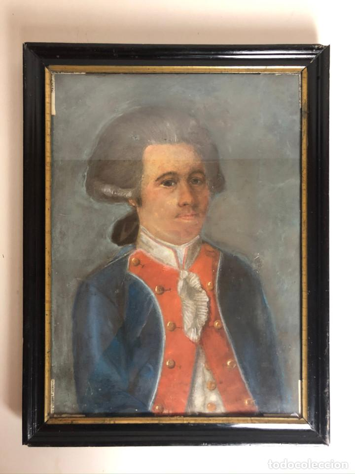 RETRATO DE SOLDADO, FRANCIA, FINALES SIGLO XVIII (Arte - Dibujos - Antiguos hasta el siglo XVIII)