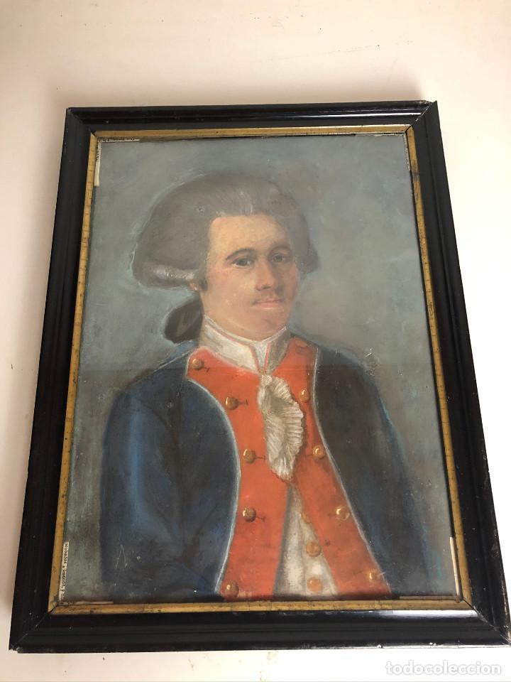 Arte: Retrato de soldado, Francia, finales siglo XVIII - Foto 2 - 220076885