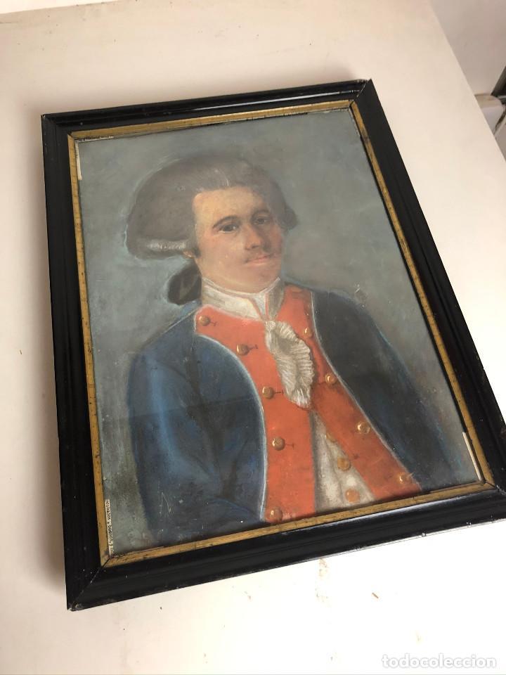 Arte: Retrato de soldado, Francia, finales siglo XVIII - Foto 3 - 220076885