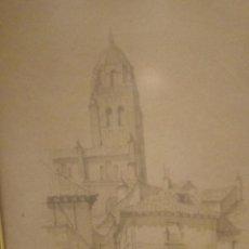 Art: PAREJA DE TINTAS DE F.ROMAN- CALLES DE PUEBLOS. Lote 220534635
