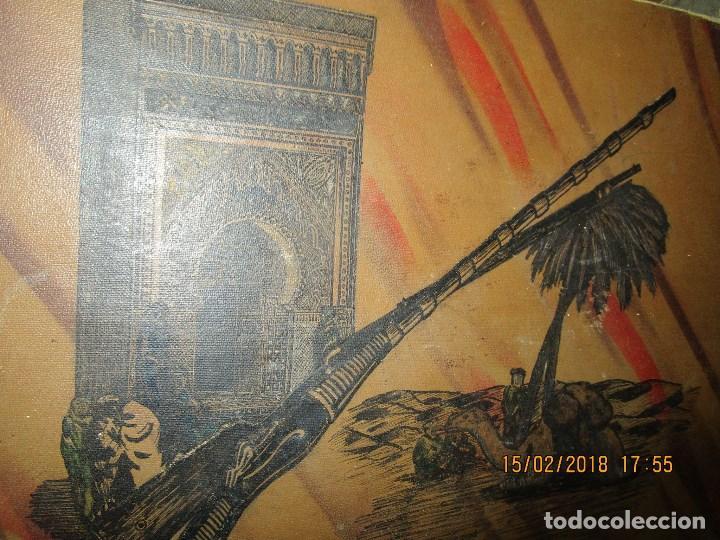 Arte: antigua pintura a plumilla de regulares en guerra civil portada de un album reverso escudo españa - Foto 4 - 220569797