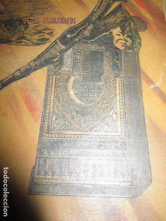 Arte: antigua pintura a plumilla de regulares en guerra civil portada de un album reverso escudo españa - Foto 7 - 220569797