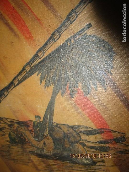 Arte: antigua pintura a plumilla de regulares en guerra civil portada de un album reverso escudo españa - Foto 9 - 220569797