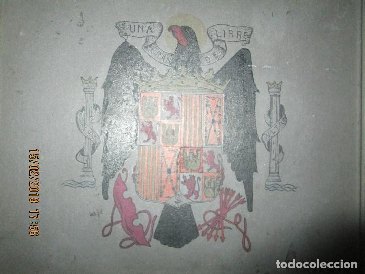 Arte: antigua pintura a plumilla de regulares en guerra civil portada de un album reverso escudo españa - Foto 11 - 220569797