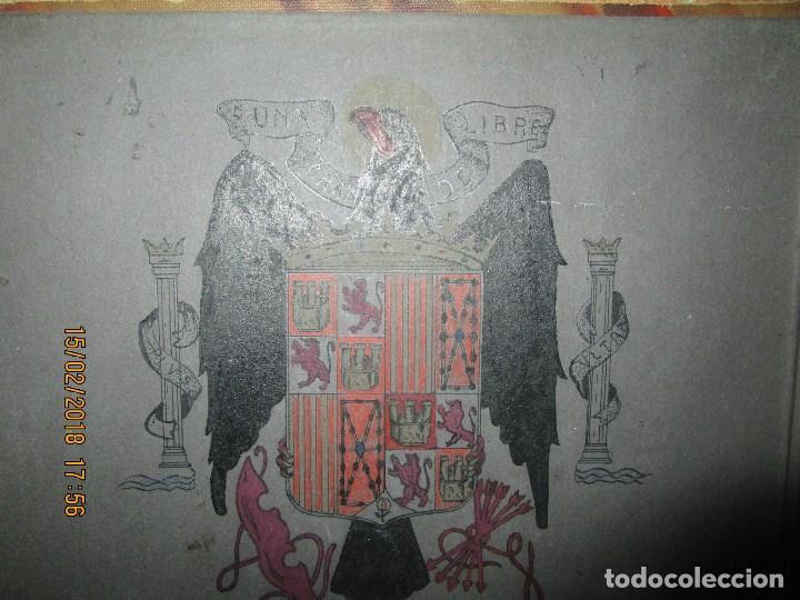 Arte: antigua pintura a plumilla de regulares en guerra civil portada de un album reverso escudo españa - Foto 10 - 220569797