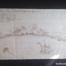 Arte: ANÓNIMO. SIGLO XVII. VISTA DEL GOLFO DE CAÍ.. Lote 220717020