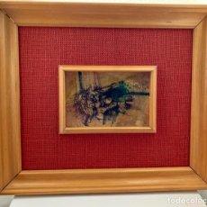 Arte: MANUEL R. MOLDES (1949-2019). ORIGINAL TINTA NEGRA Y GOUACHE. MADRID 1972. 15 CM X 9,5 CM. Lote 220768481