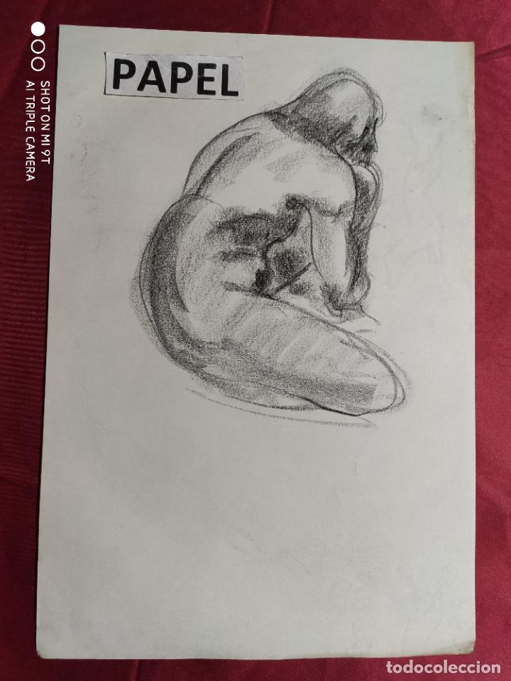 DIBUJO ORIGINAL. CARBONCILLO . SIN FIRMAR (Arte - Dibujos - Contemporáneos siglo XX)