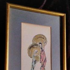 Arte: DIBUJO (TÉCNICA MIXTA) / * SAN JOSÉ, MARÍA Y EL NIÑO JESÚS *. FIRMADO; GARCÍA CASTEJÓN. AÑO 1959.. Lote 221700762