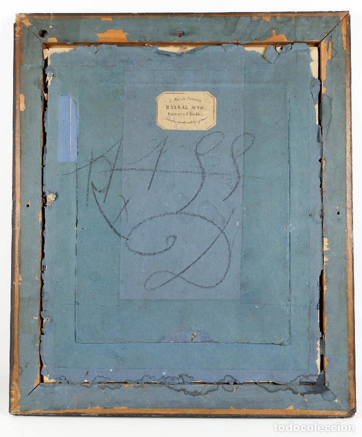 Arte: Dibujo de personaje por identificar, siglo XIX. Marco: 35x42 cm. Dibujo: 18x22 cm. - Foto 4 - 221713352