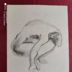 Arte: DIBUJO ORIGINAL. CARBONCILLO . SIN FIRMAR. Lote 221721745