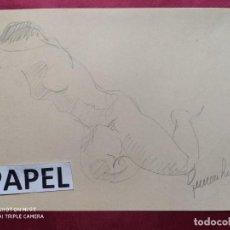 Arte: DIBUJO ORIGINAL A LAPIZ. FIRMADO. Lote 221721941