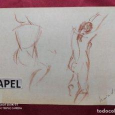 Arte: DIBUJO ORIGINAL. LAPIZ COLOR. FIRMADO. Lote 221722082