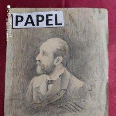 Arte: DIBUJO ORIGINAL ANTIGUO A LAPIZ DEL DR. ROBERT. FIRMADO F. MILA. Lote 221724928