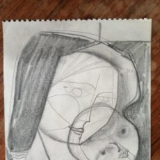 Arte: JORDI SAMSO. DIBUJO A CARBON. MATERNIDAD. Lote 221874371