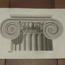 Arte: DIBUJO ORIGINAL CAPITEL. FIRMADO POR AMBRÓS XXIX. Lote 221944367