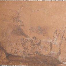 Arte: ATRIBUIDO A DOMINIQUE VIVANT, BARON DE DENON. ESCENA BÀQUICA. TINTA NEGRA Y AGUADA. 18,5 X 32,5 CM. Lote 222163437