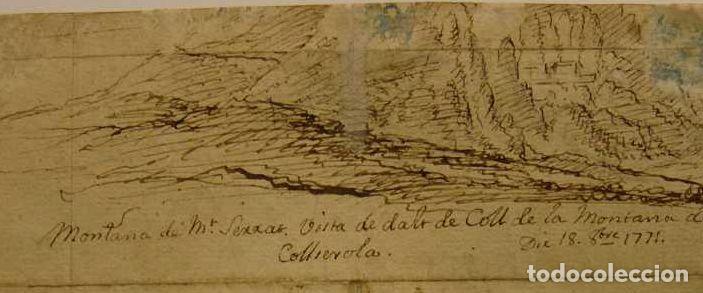 Arte: LAMENTO DE DIDO. AL DORSO MONTAÑAS DE MONTSERRAT. 1771. AGUADA MARRON Y TINTA. 14 X 18,5 CM - Foto 5 - 222349713