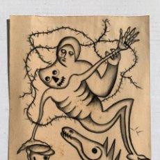 Arte: ELEUTERIO BLASCO - FANTASTICO DIBUJO ORIGINAL FIRMADO Y CATALOGADO. Lote 222386540