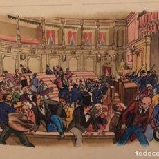 Arte: DISOLUCIÓN DE LAS CORTES 2-1-1874. PIERRE MONNERAT (SUIZA 1917- ESPAÑA 2005). Lote 222550560