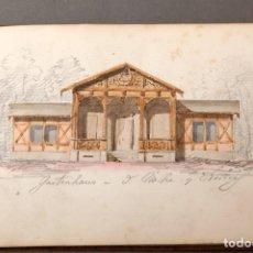 Arte: ADOLPHE TIÈCHE (1877-1957) - LIBRETA DE DIBUJO CON ACUARELAS Y APUNTES DE 1846. Lote 222619025