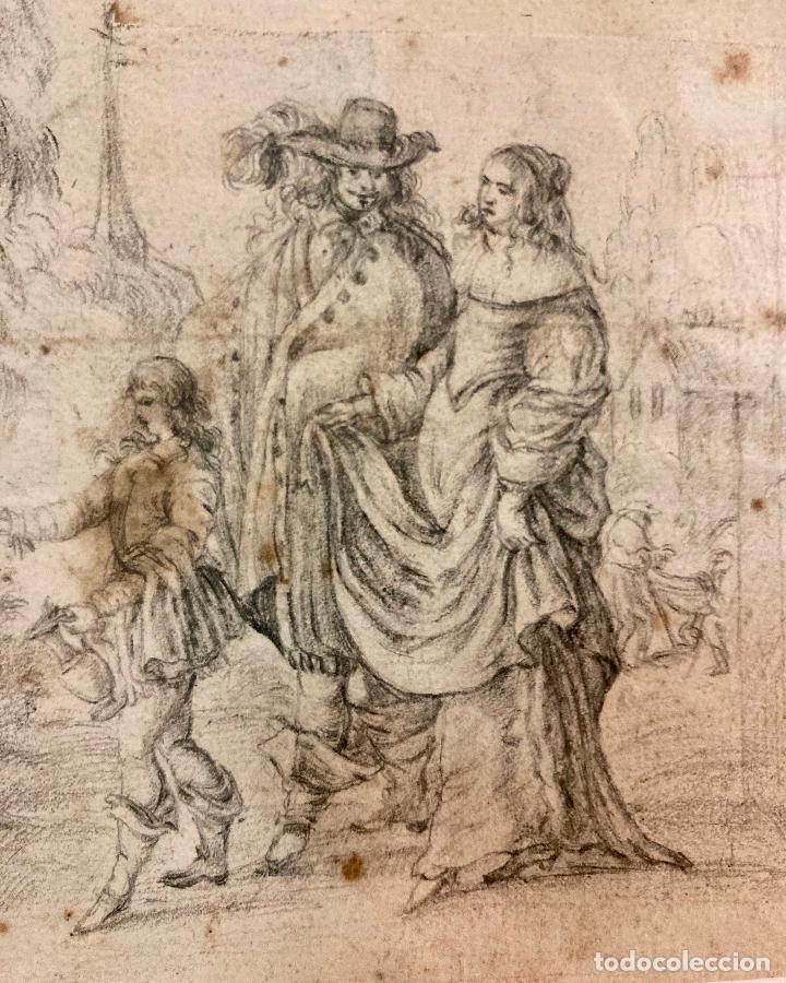 Arte: PERE ARRAU. ESCENA DE LA VIDA DE JESÚS. SIGLO XVIII. LÁPIZ, TINTA Y AGUADA. 11,5 x 22,5 cm - Foto 3 - 222727568