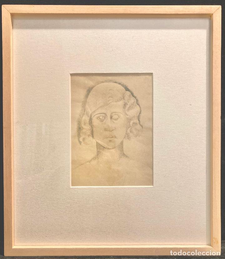 """Arte: MANOLO HUGUÉ (1872-1945). """"SOLEDAD"""", CIRCA 1930.Tinta. 22 x 16 cm - Foto 2 - 222728177"""