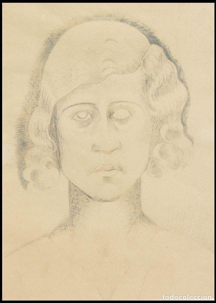 """Arte: MANOLO HUGUÉ (1872-1945). """"SOLEDAD"""", CIRCA 1930.Tinta. 22 x 16 cm - Foto 4 - 222728177"""