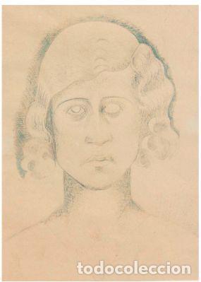 """Arte: MANOLO HUGUÉ (1872-1945). """"SOLEDAD"""", CIRCA 1930.Tinta. 22 x 16 cm - Foto 5 - 222728177"""