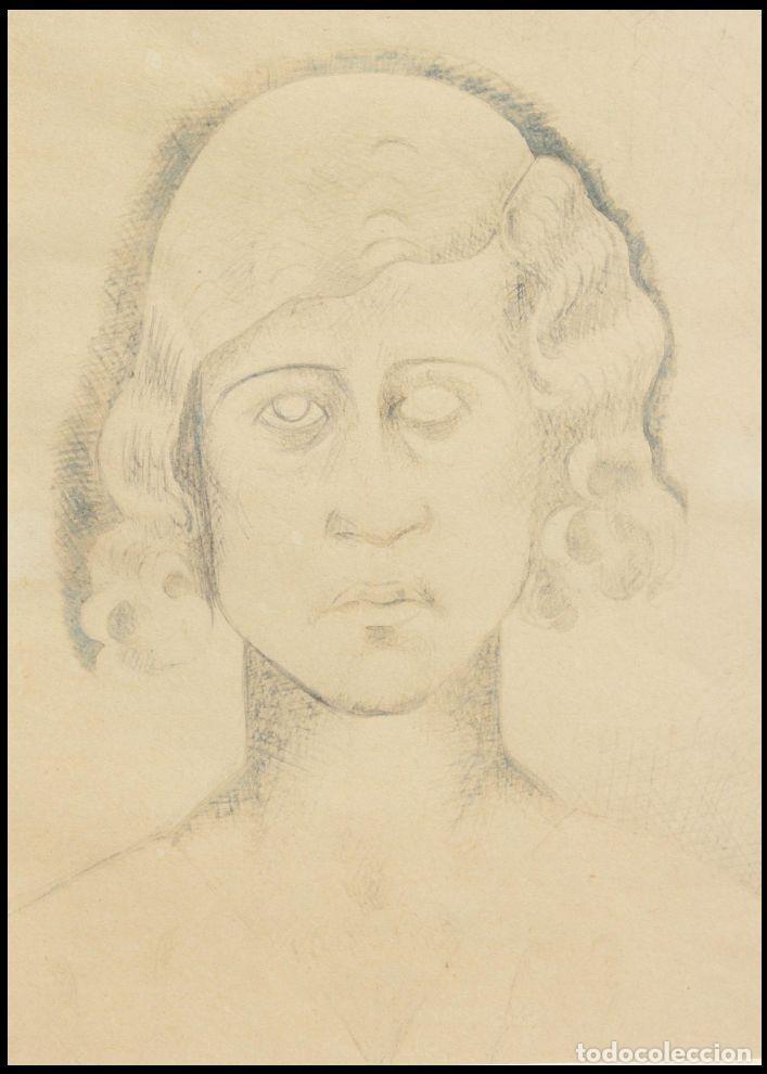 """MANOLO HUGUÉ (1872-1945). """"SOLEDAD"""", CIRCA 1930.TINTA. 22 X 16 CM (Arte - Dibujos - Modernos siglo XIX)"""