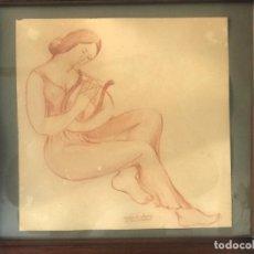 Arte: DIBUJO SANGUINA DE HERMENI SENTÍS 1960.. Lote 222736730