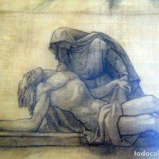 Arte: TROZO DE HISTORIA, DIBUJO O BOCETO FINAL ORIGINAL, LA PIEDAD DE AVALOS, CERTIFICADO, LEER.W. Lote 223215502