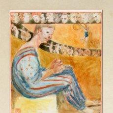 Arte: INTERESANTE OBRA - FIRMADA SILKE BACHMANN - AÑO 1980 - TEMÁTICA CIRCO - PAYASO - DIBUJO ENMARCADO. Lote 223297486