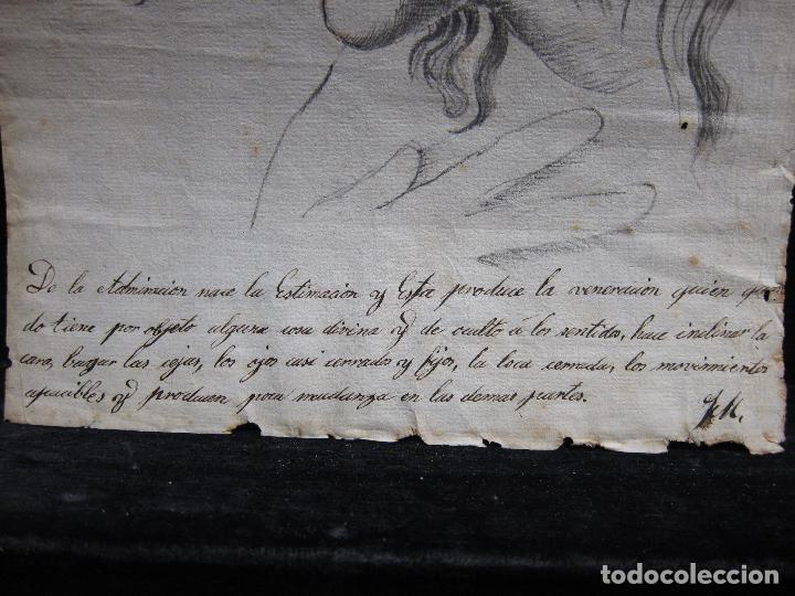 Arte: TRES DIBUJOS: El llanto. Colera. La veneración. LAPIZ Y TINTA. SIGLO XVIII - Foto 4 - 223512661