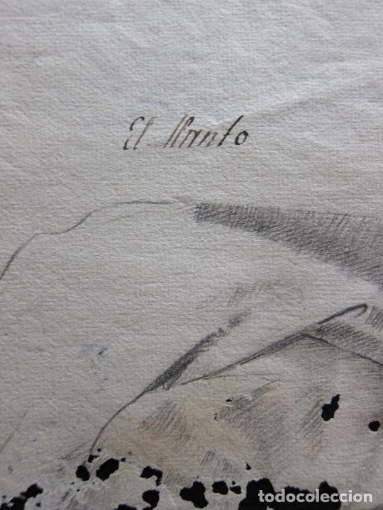 Arte: TRES DIBUJOS: El llanto. Colera. La veneración. LAPIZ Y TINTA. SIGLO XVIII - Foto 5 - 223512661