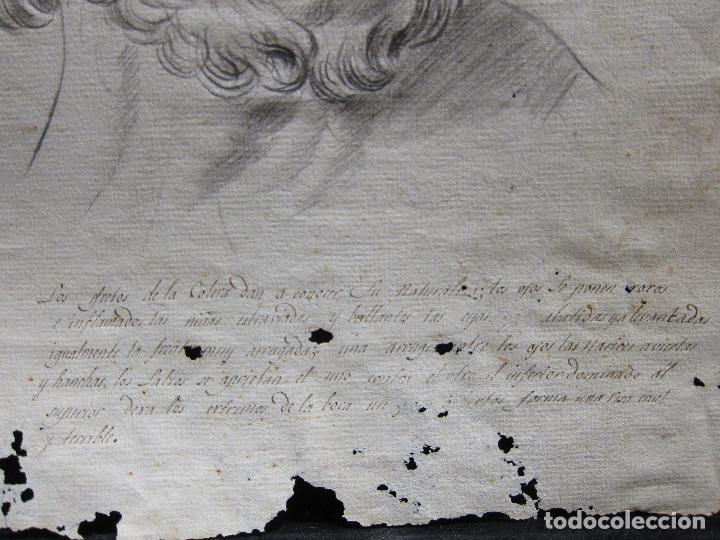 Arte: TRES DIBUJOS: El llanto. Colera. La veneración. LAPIZ Y TINTA. SIGLO XVIII - Foto 9 - 223512661