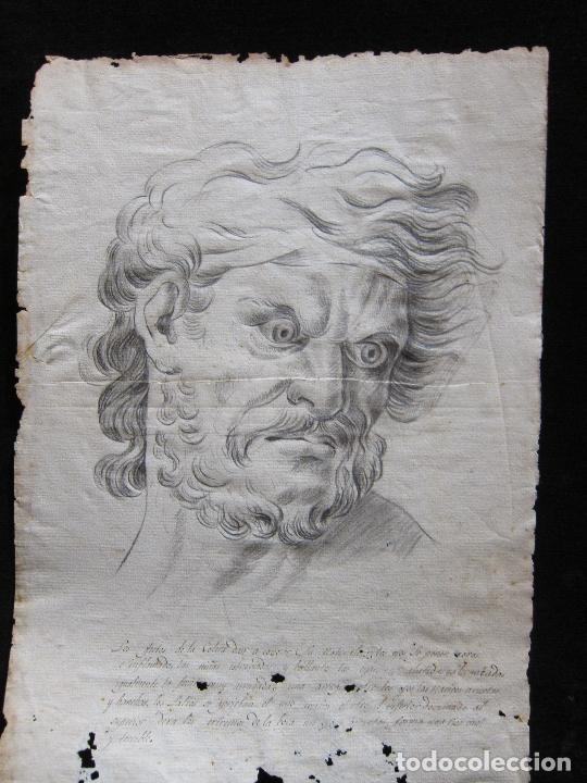 Arte: TRES DIBUJOS: El llanto. Colera. La veneración. LAPIZ Y TINTA. SIGLO XVIII - Foto 8 - 223512661