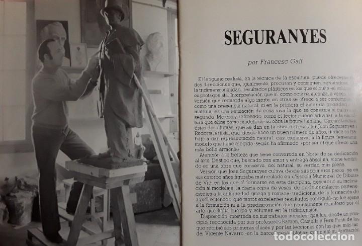 Arte: Joan Seguranyes(VIC) : Dibujo original de lápiz y clarión, torso de mujer posando. Enmarcado actual. - Foto 4 - 222696241
