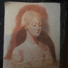 Arte: SANGUINA. BUSTO CLÁSICO. AÑO 1946. MEDIDAS 35 X 50 CM.. Lote 224338116