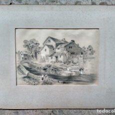 Arte: AMBLESIDE - ORIGINAL, FIRMADO Y FECHADO - LIZZIE HOBSON, 1898. Lote 224586303