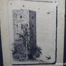 Arte: DIBUJO JOSE AGUADO GUERRA(TRIGUEROS 1856-1905).LOS 3 OBREROS,SEVILLA 1890. Lote 224796523