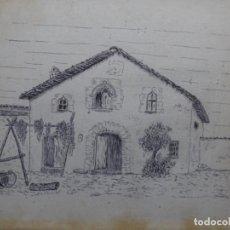 Arte: DIBUJO FIRMADO TON.MASIA DE TERRASSA O ALREDEDORES.. Lote 224800068